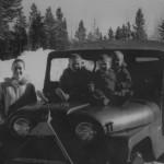 Pringles in old Jeep