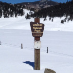 Gunnison Forest sign - winter
